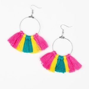 Peruvian Princess - Multi Color Tassel Earrings